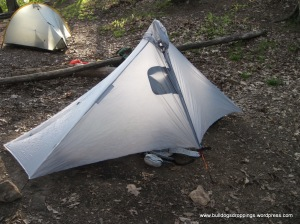 Bulldog's tent at Locust Cove Gap
