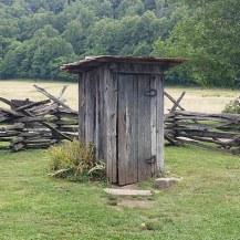 Outhouse - Mountain Farm Museum